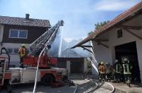 Brand Nebengebäude in Patzing