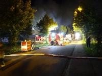 Großbrand in Recyclingbetrieb